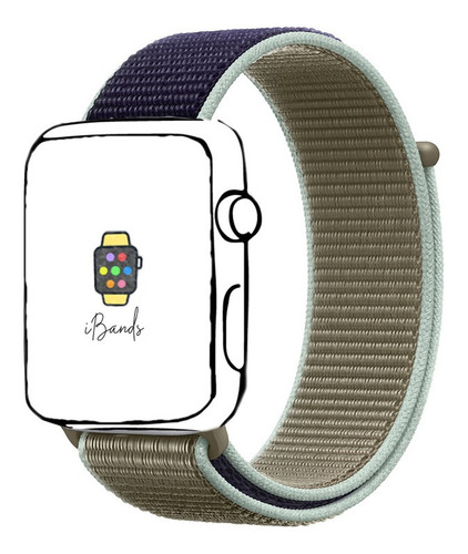 pulseira loop esportiva khaki apple watch 42mm 44mm