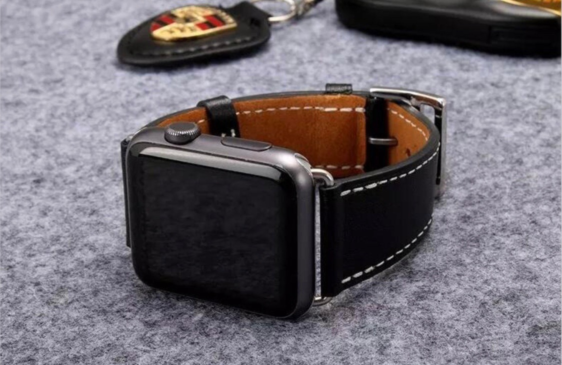 992b44e362a pulseira luxo apple watch 42mm preto ou marrom. Carregando zoom.