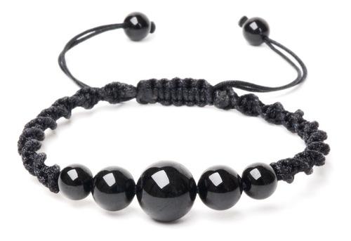 pulseira macrame turmalina negra pedras naturais