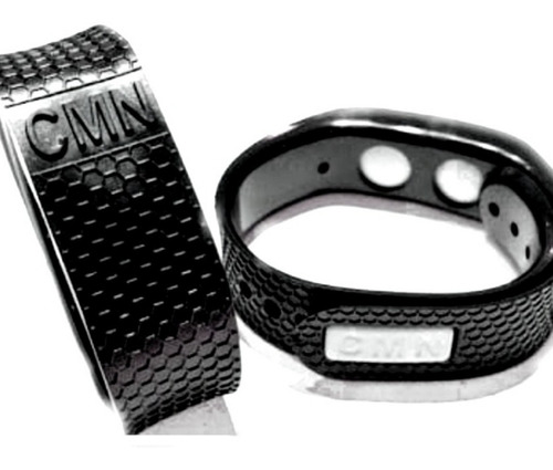 pulseira magnética cmn 2 infravermelho + 2 imãs 2700 gauss