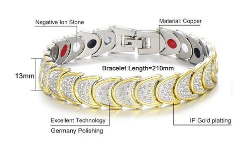 pulseira magnética cobre aberto pulseira  saudavel terapia