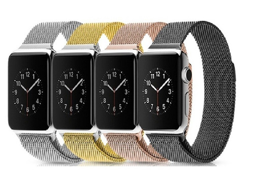 pulseira magnetica metalica apple watch 1 2 3 4 milanese