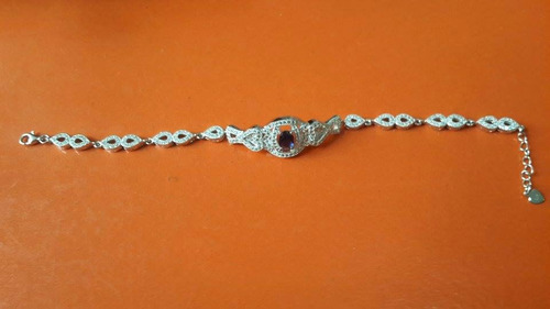 pulseira maravilhosa feminina em prata 925 e zircônias!