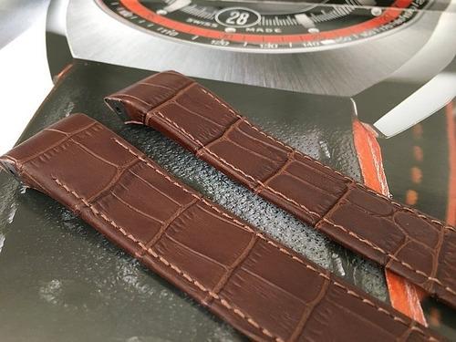 pulseira marrom em couro cartier santos 22mm.