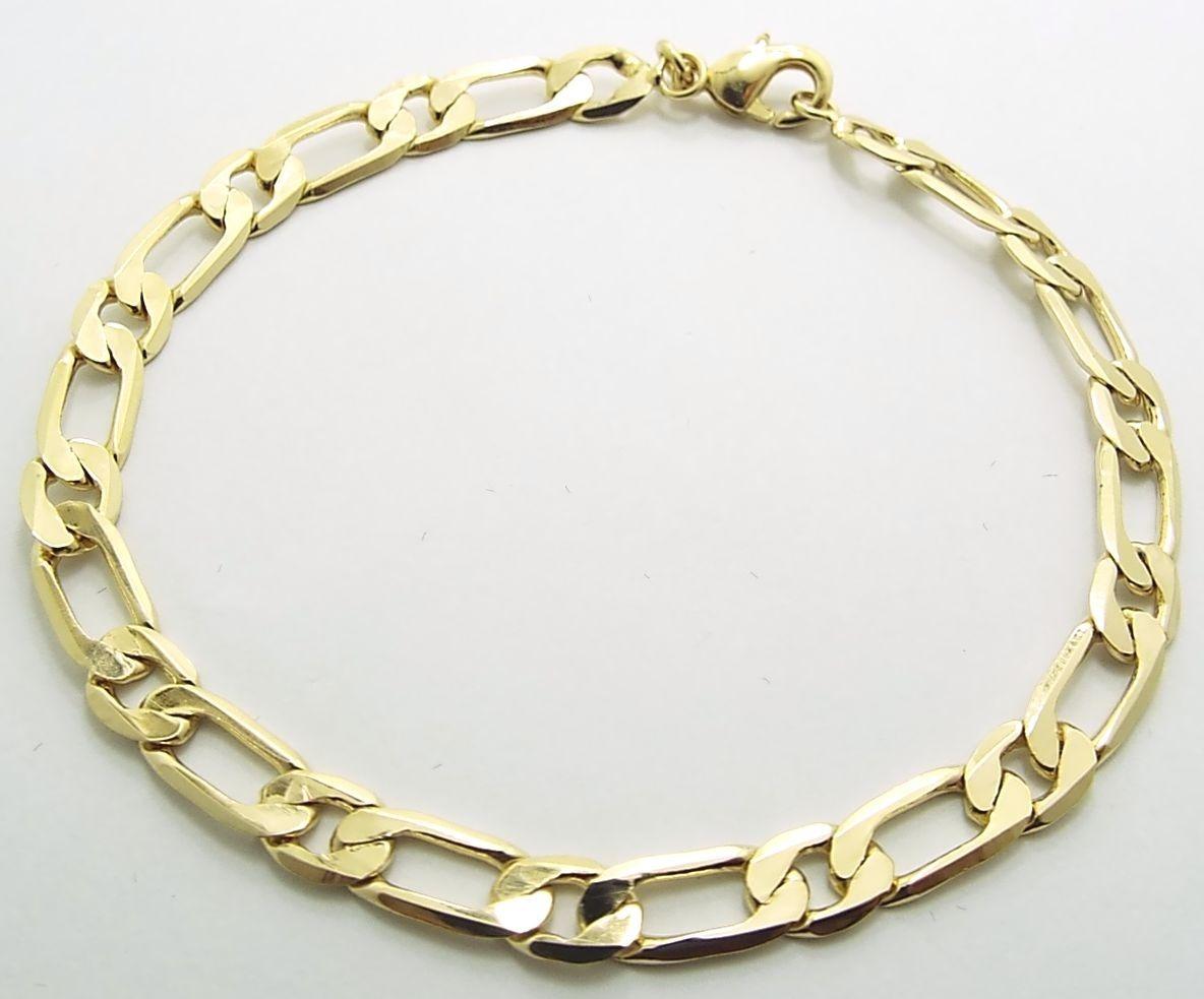 c1e7adf99d1f4 pulseira masculina 21 cm x 6 mm largura folheada a ouro 18k. Carregando  zoom.