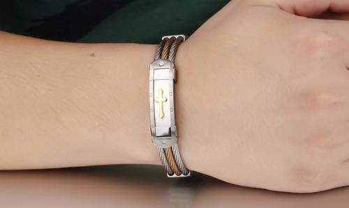 pulseira masculina aço bracelete