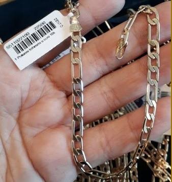 pulseira masculina banhada ouro fina rommanel moderna estilo