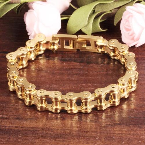 pulseira masculina bracelete ouro