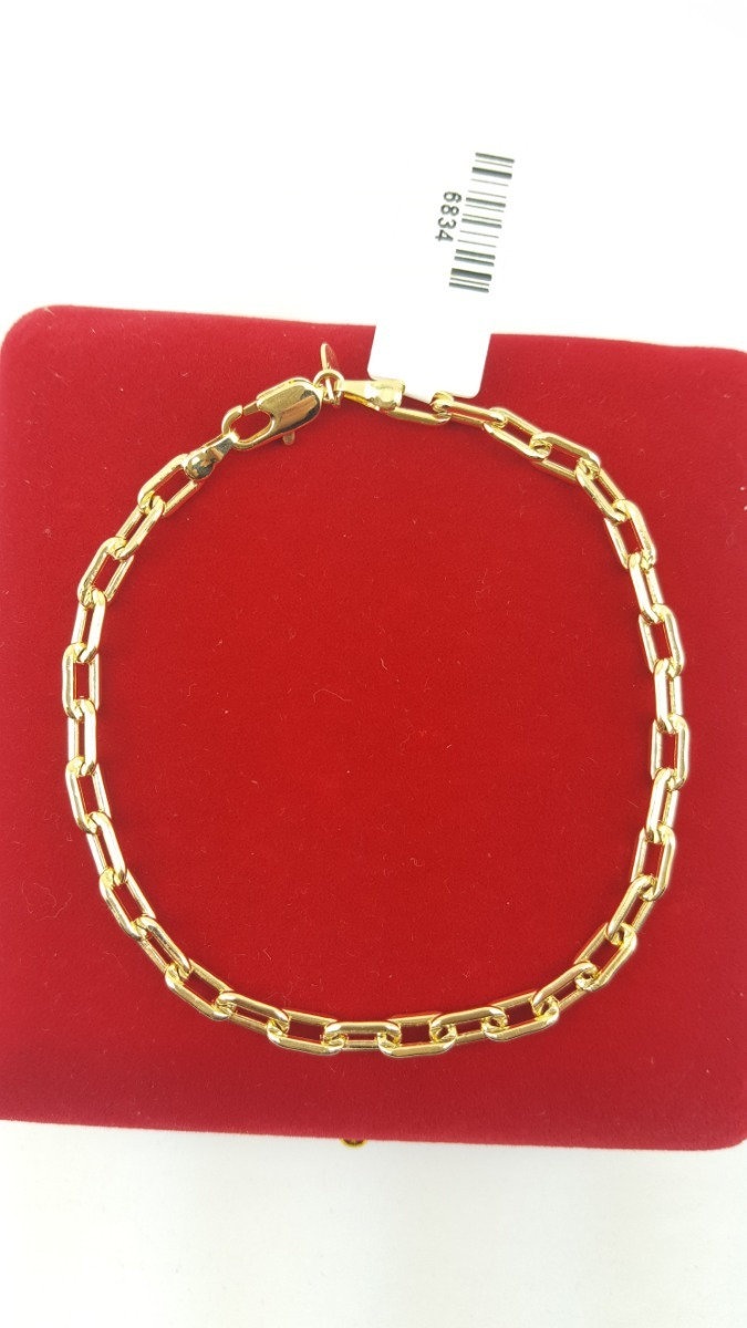 5ece2e40a3b pulseira masculina cartier folheada a ouro 18k. Carregando zoom.