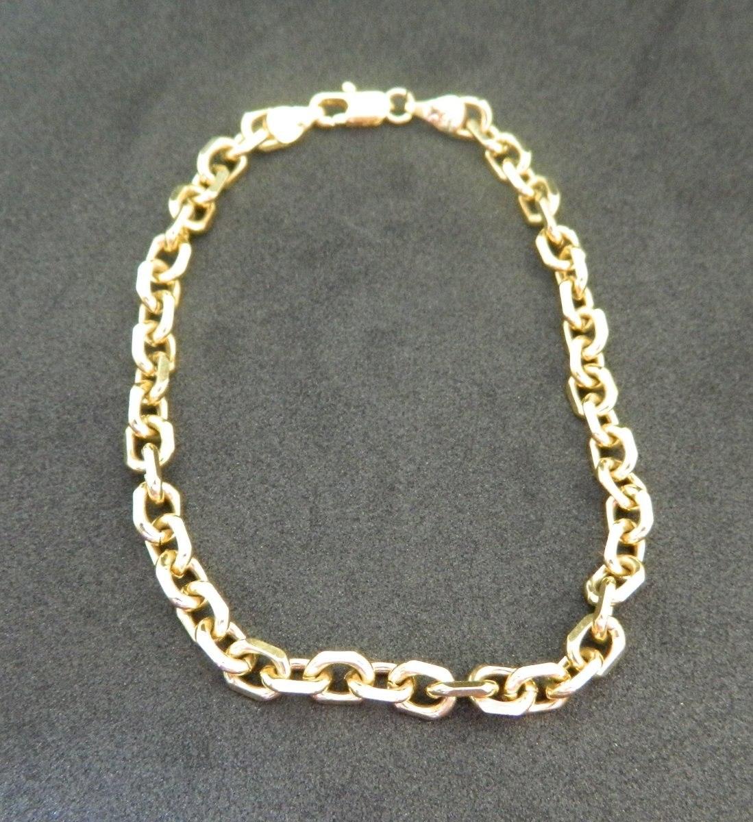 ad7d6f3b7b5 Pulseira Masculina Cartier Folheada A Ouro - 21 Cm - R  50