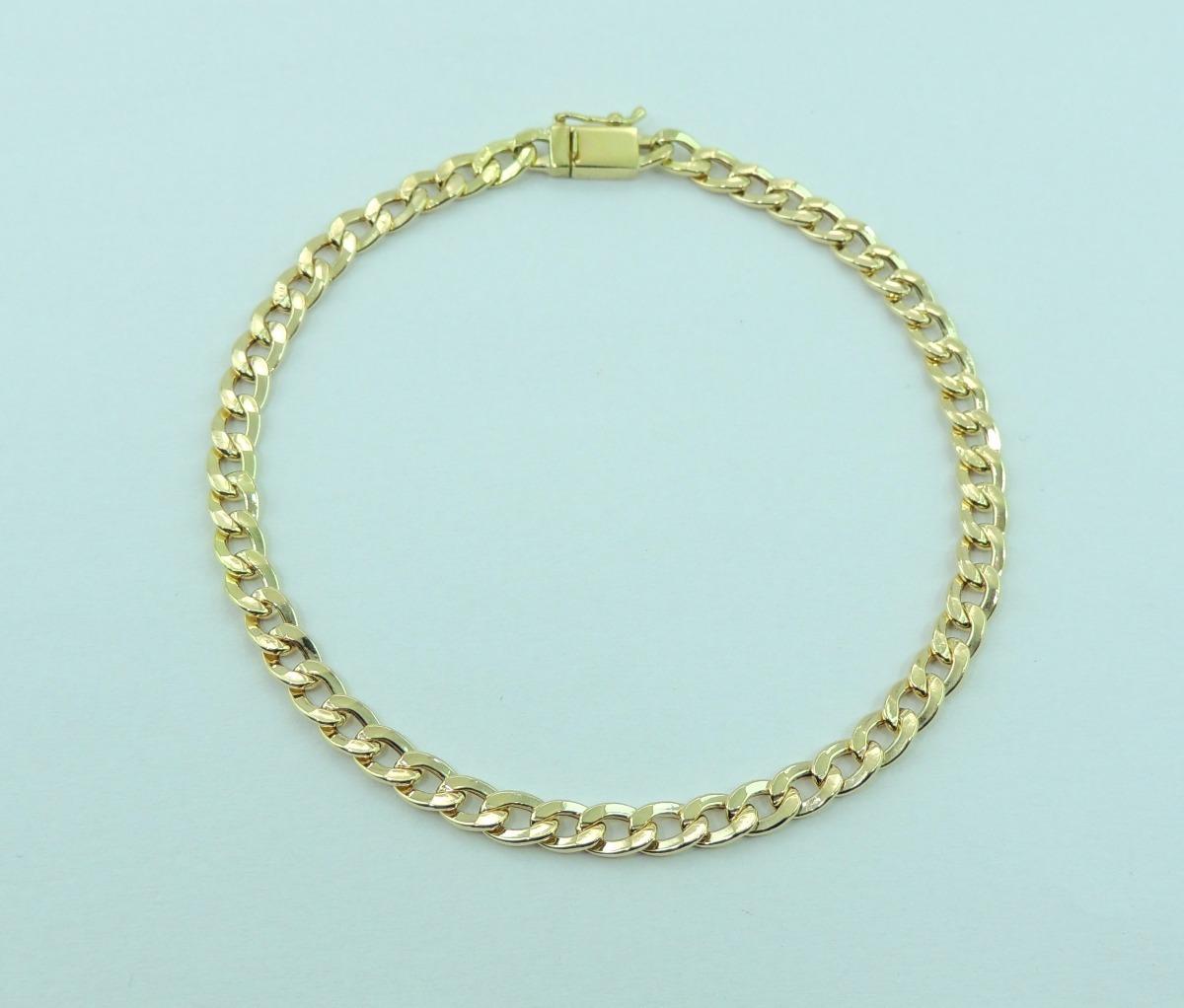 aac237169d7b7 pulseira masculina cordão grumet 18 cm fecho gaveta ouro 18k. Carregando  zoom.