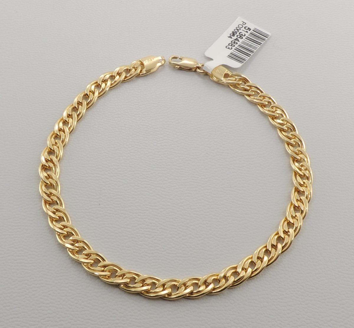 15ec4c08dc06d pulseira masculina corrente romana 21 cm ouro 18k lançamento. Carregando  zoom.