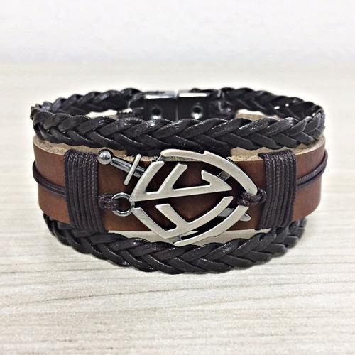 pulseira masculina couro bracelete
