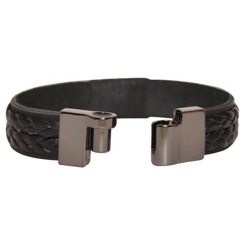 pulseira masculina couro legítimo fecho  imã promoção