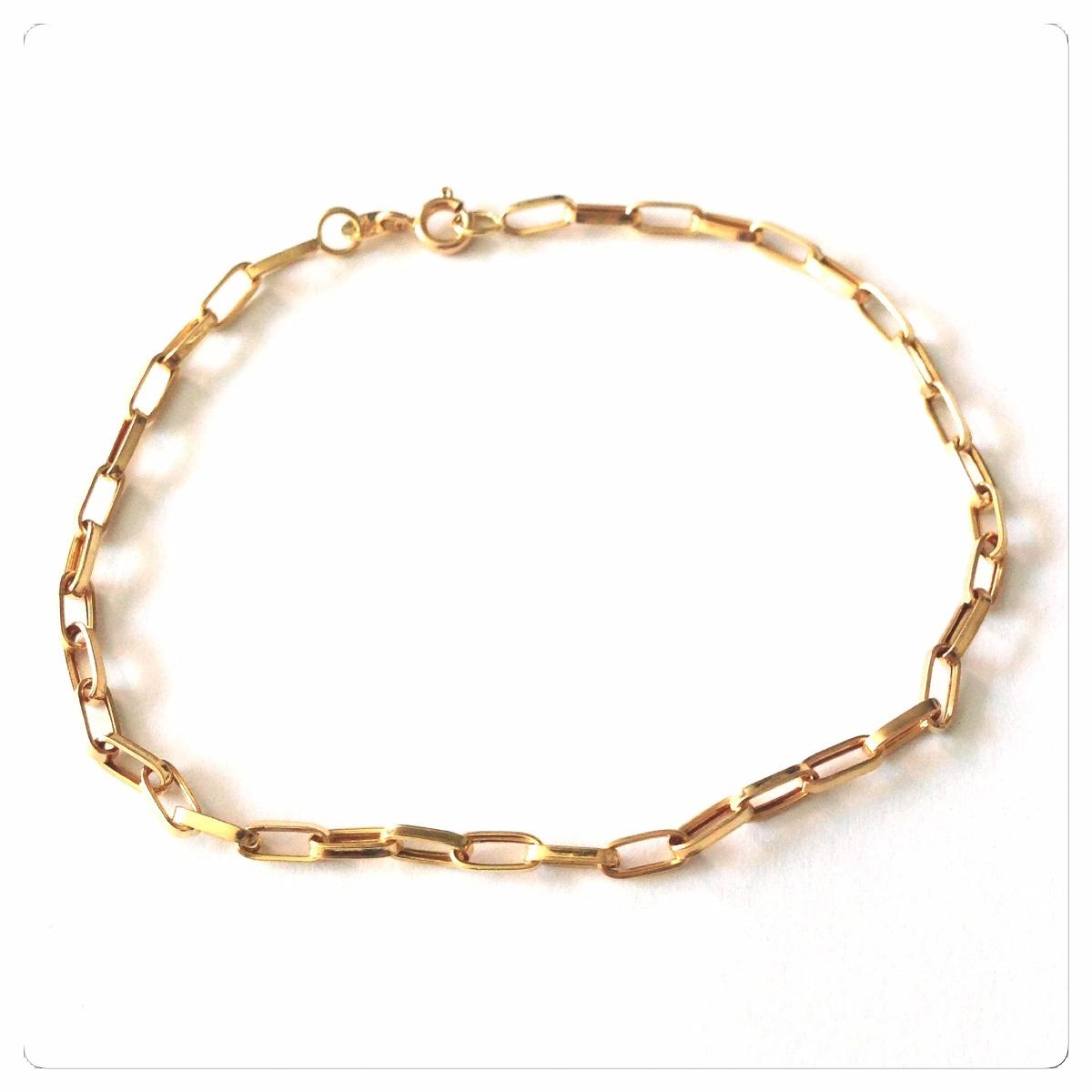 454c107d5a005 pulseira masculina de 19 cm ouro 18k elos de 3mmx6mm. Carregando zoom.