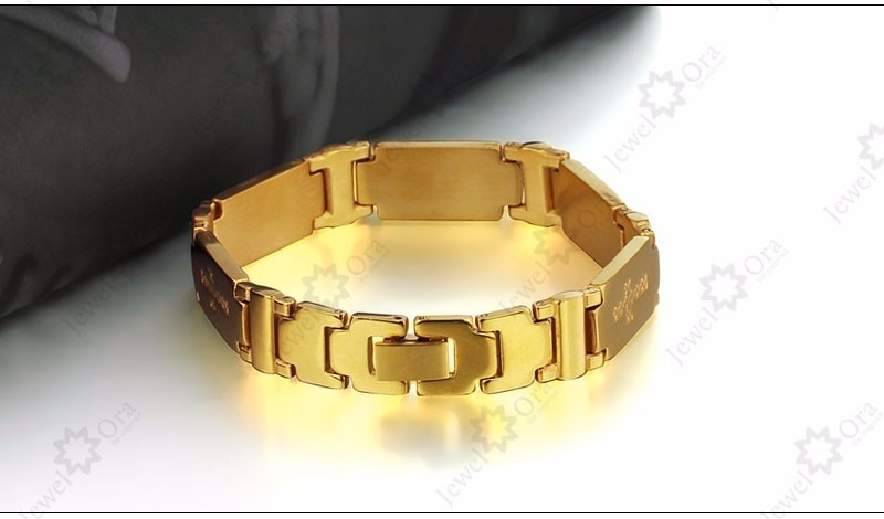 Pulseira Masculina De Aço Com Banho De Ouro - R  59,00 em Mercado Livre 14c342592e
