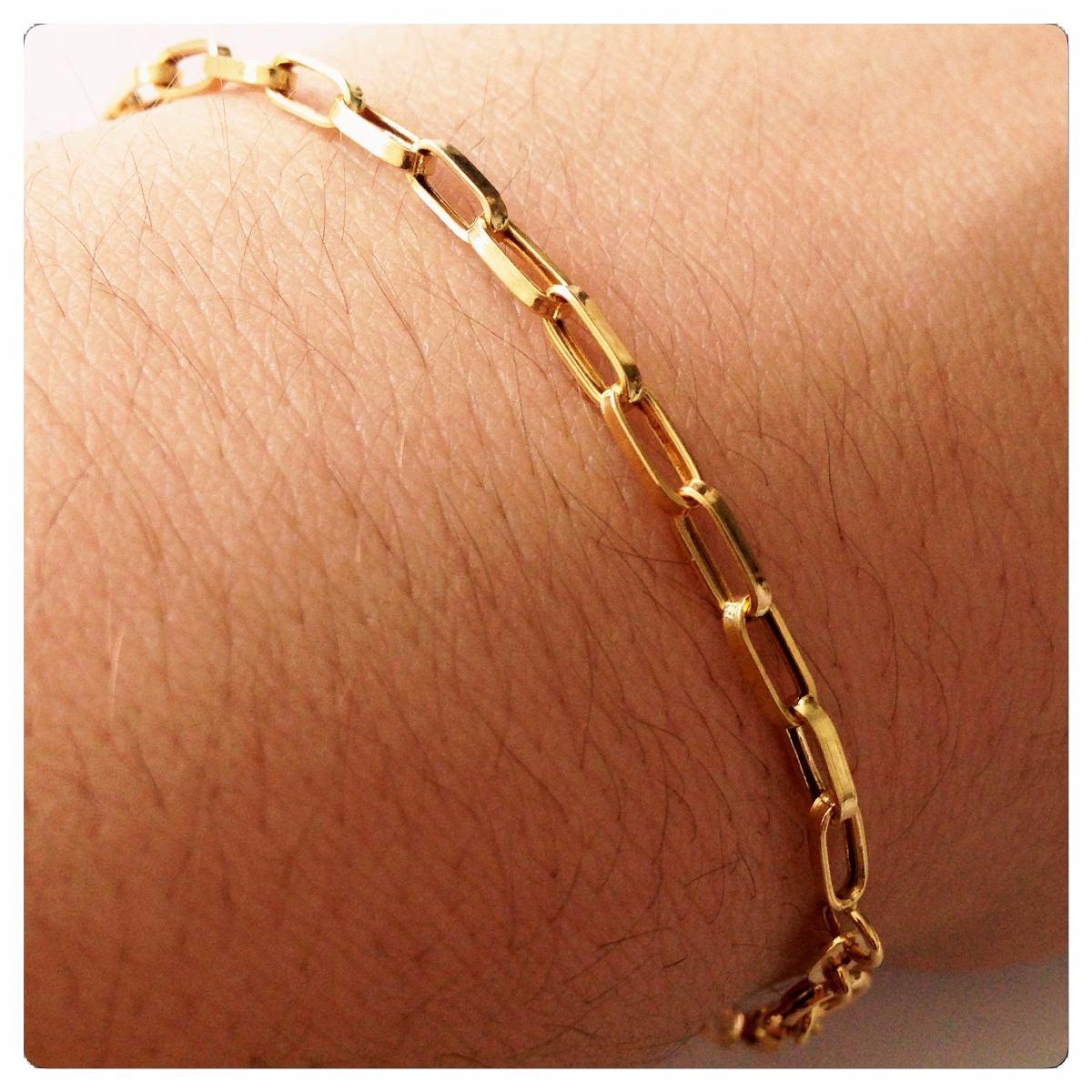 c937593c9d219 pulseira masculina de ouro 18k elos com 19 cm. Carregando zoom.