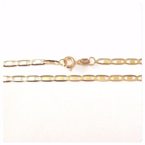 pulseira masculina em ouro 18k-750 elos piastrine