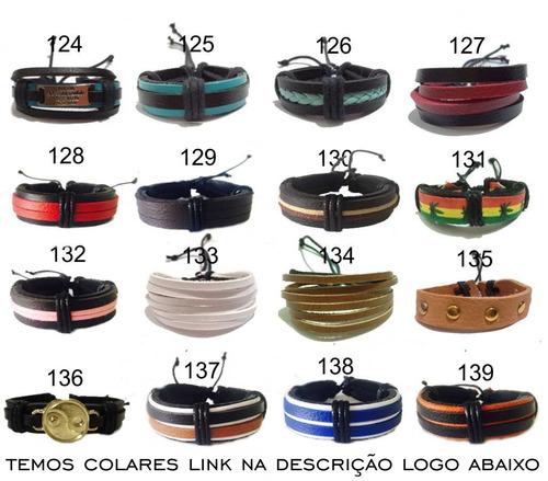 pulseira masculina feminina ajustável bracelete varias