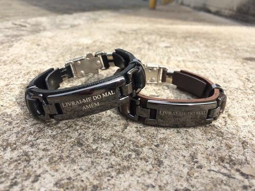 pulseira masculina feminina couro verniz c/10 peças atacado