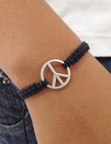 pulseira masculina feminina macrame shambala paz rock hippie