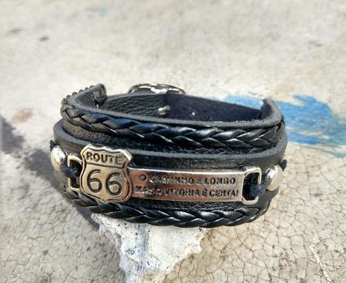 pulseira masculina feminina rota 66