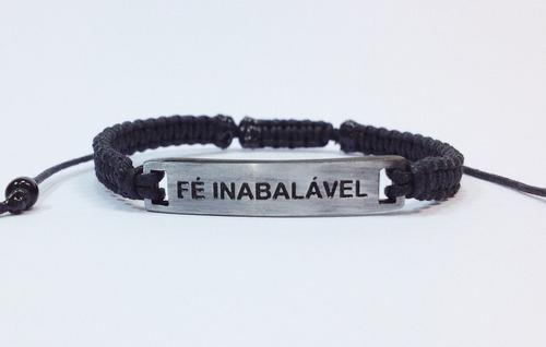 pulseira masculina feminina shambala macrame fé inabalável