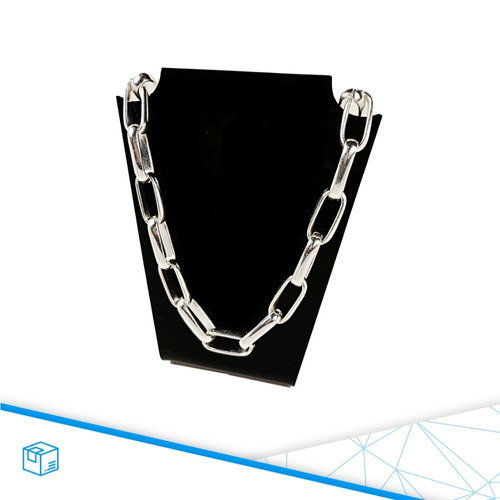 pulseira masculina folheada prata corrente grossa semi jóias
