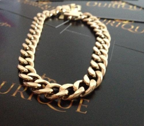 pulseira masculina groumet elos 1x1 grumet de ouro 18k 750