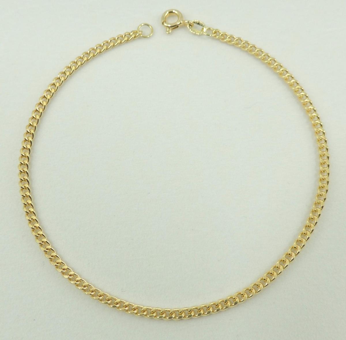 77e8a1d6f6d pulseira masculina grumet 21 cm ouro 18k 750 super promoção. Carregando  zoom.