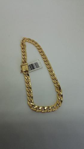 pulseira masculina grumet fecho gaveta 100% ouro 18k 5.5mm