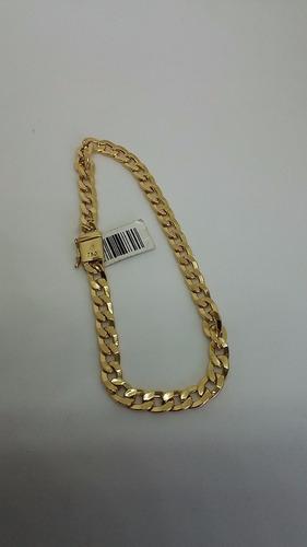 pulseira masculina grumet ouro 18k 750 5.5mm   fecho gaveta