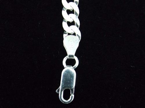 pulseira masculina italiana 4mm grumet em prata 925
