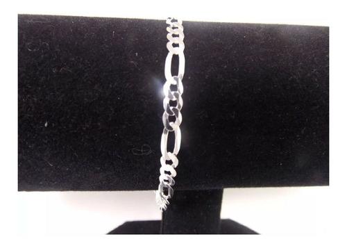 pulseira masculina italiana prata 925 modelo 3x1 4 mm 20 cm