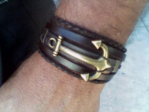pulseira masculina âncora style