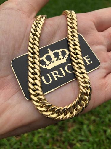 pulseira masculina ouro 18k 750 grumet duplo promoção 14 g