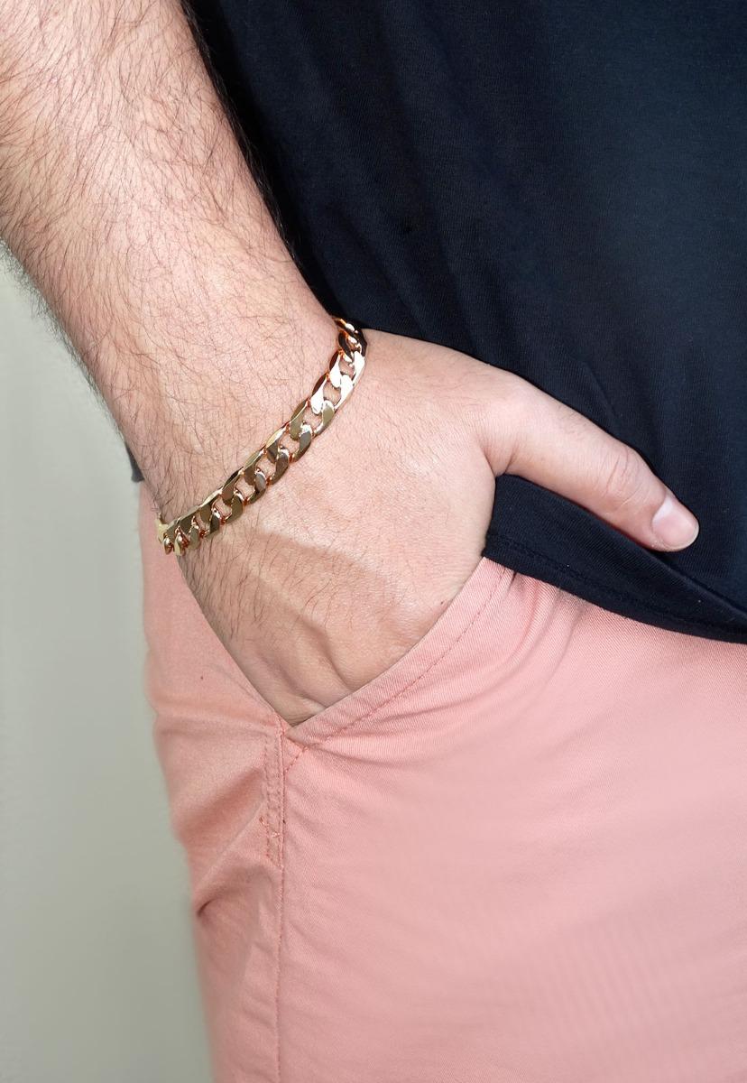 Carregando zoom... masculina ouro pulseira. Carregando zoom... pulseira  grumet masculina diamantada 10 mm banhada ... a25c3c94c4
