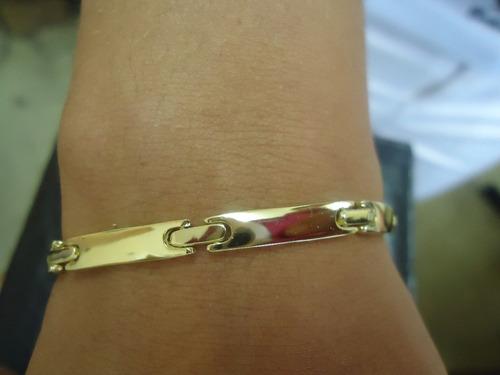 pulseira masculina ouro exclusiva.