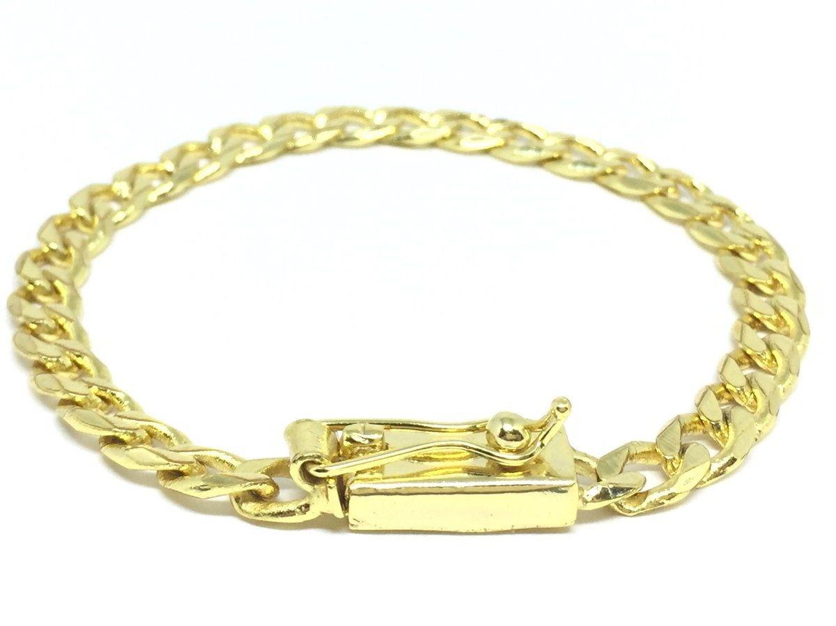 e8f4d9a4676 pulseira masculina pitbull 6mm banhada a ouro 18k. Carregando zoom.