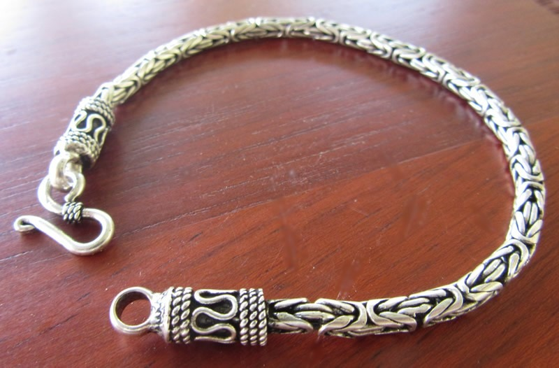 3812f3436e1 pulseira masculina prata 925 bali ponto peruano 21 cm 19 gr. Carregando  zoom.