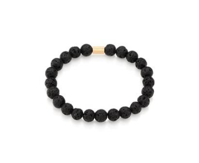 pulseira masculina rommanel vulcânica shambala 551569