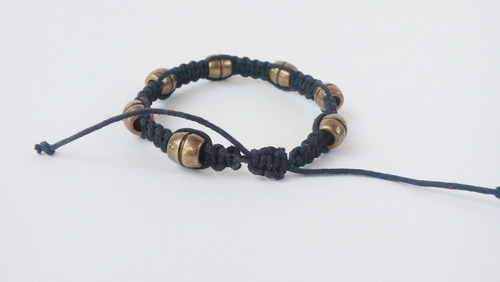 pulseira masculina shambala ajustavel