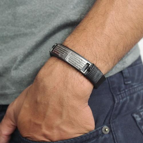 pulseira masculinas couro