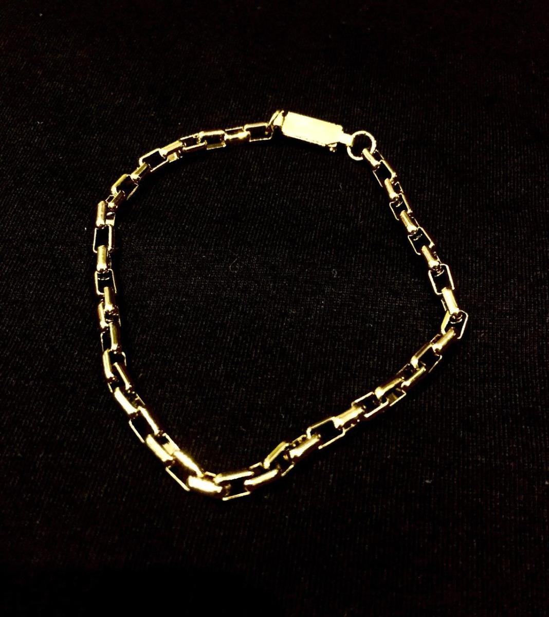 b3086a78a4f pulseira masculino elo quadrado cartier folheado a ouro. Carregando zoom.