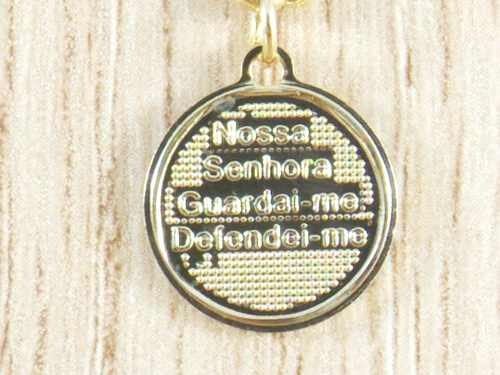 pulseira medalha nossa senhora aparecida folheada