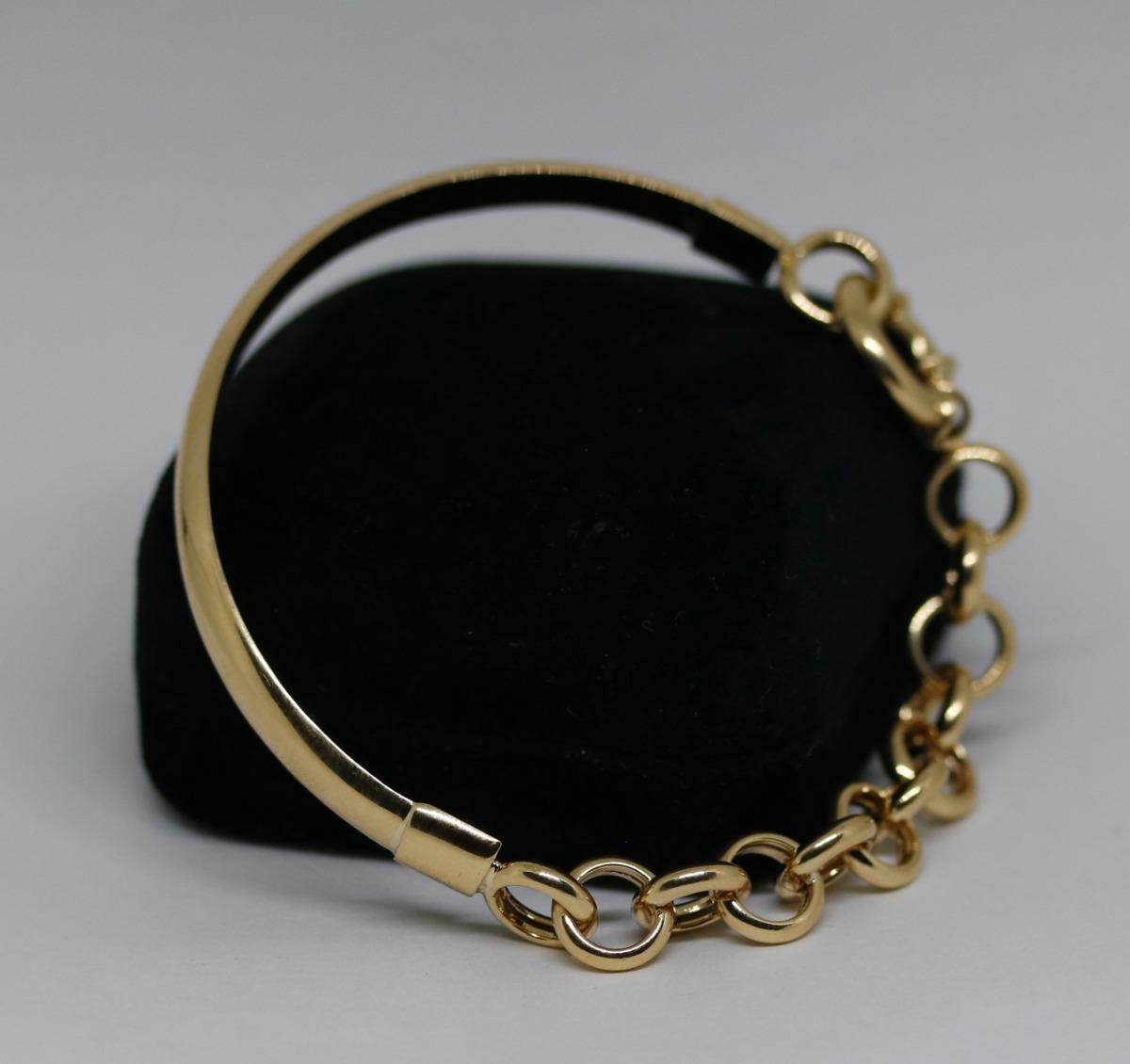 6a76ffb2389e7 Pulseira Meio Bracelete De Ouro 18k 750 - R  2.295,00 em Mercado Livre