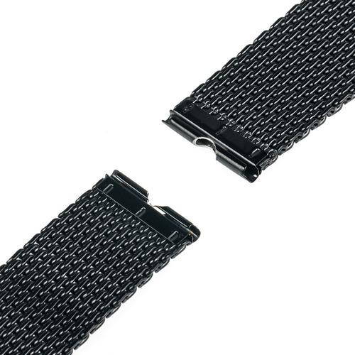 pulseira mesh moto aço inox 1ª ger. preta pvd frete grátis