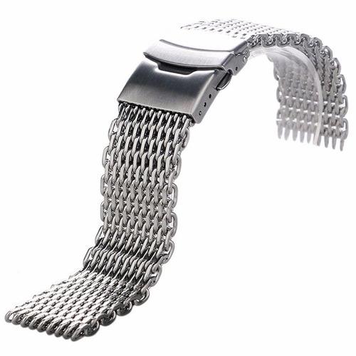 pulseira mesh  shark  24mm  interlock pronta entrega