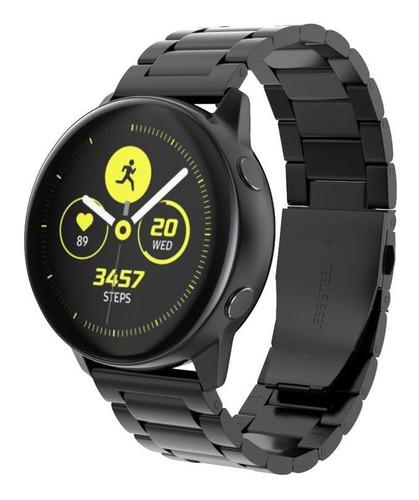 pulseira metal 3 elos p/ samsung galaxy watch active 2 44mm