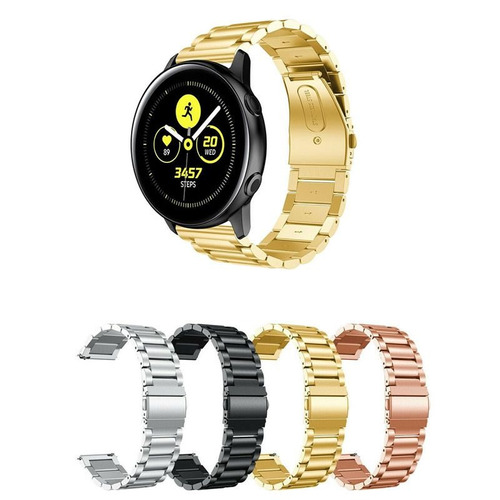 pulseira metal 3 elos para samsung galaxy watch active 40mm